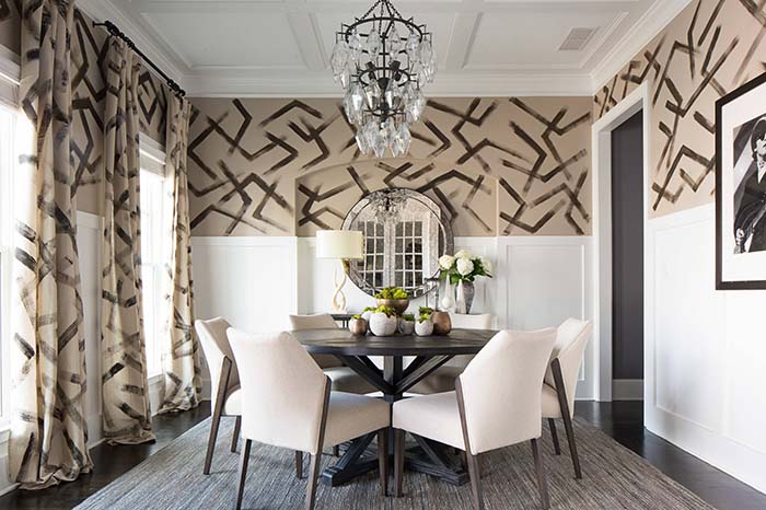 Bold Colored Dining Room