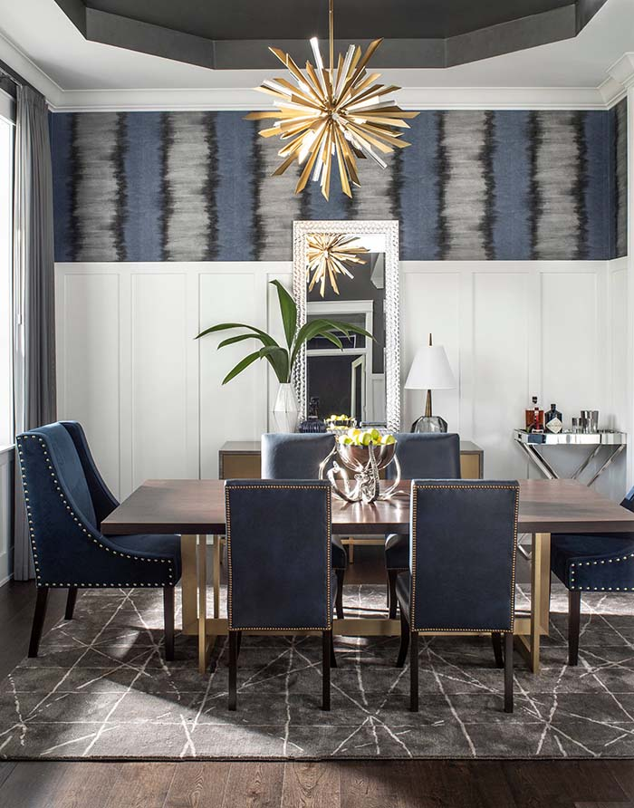 Dining Room With High Wainscoting Panels