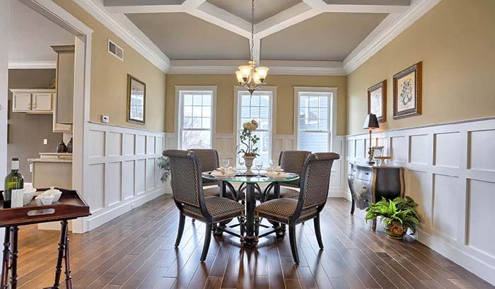 Dining Room With Wainscoting Wall