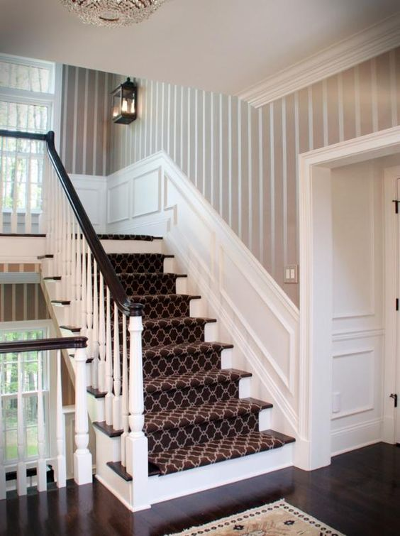 Fabulous Staircase With Wainscoting Wall