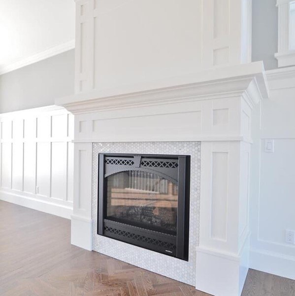 Fireplace with Millwork Wainscoting Ideas and Design