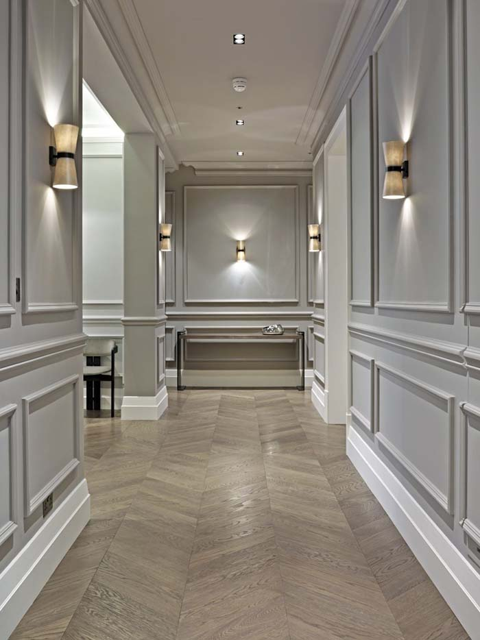 Full Wall Hallway Wainscoting Style