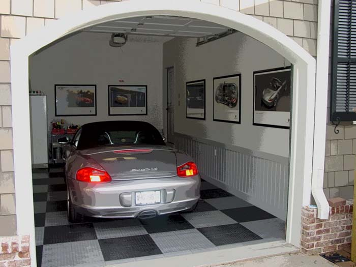 Garage With Wainscoting Wall