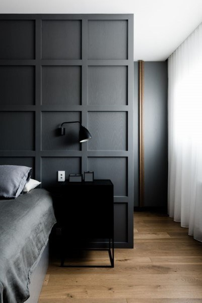 Gray Simple Wainscoting Ideas For Bedroom