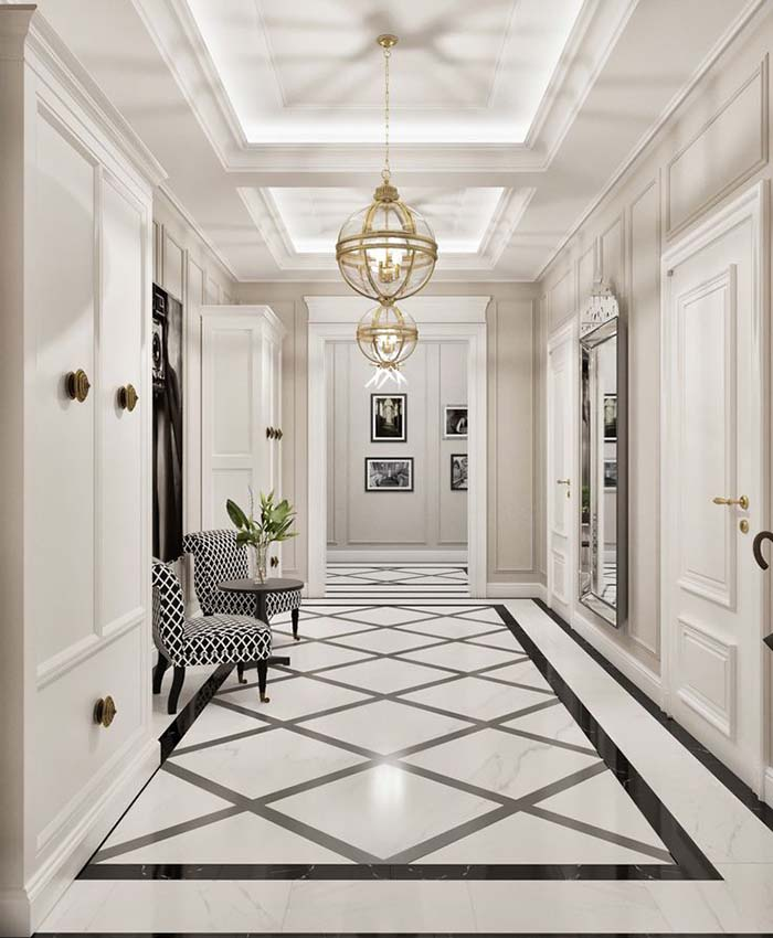 Great Hallway With Wainscoting