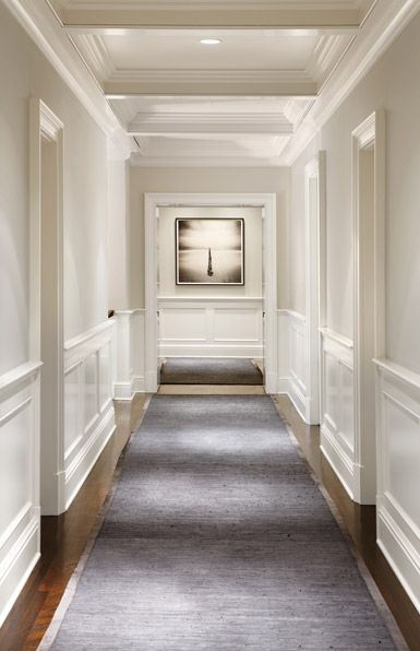 Hallway With Wainscoting Wall