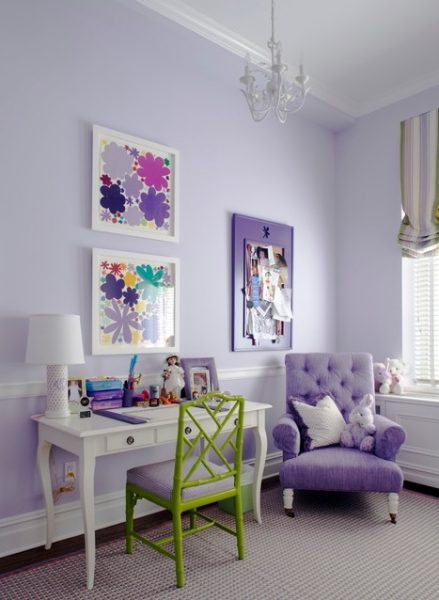 Lilac Painted Nursery Room #paintcolor #relax #homedecor #calming color #decorhomeideas