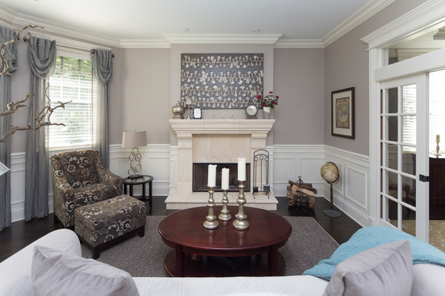 Living Room With Wainscoting Wall