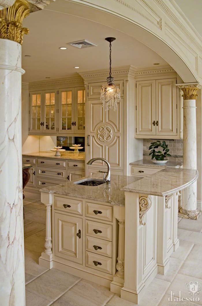 Old World Antique White Kitchen