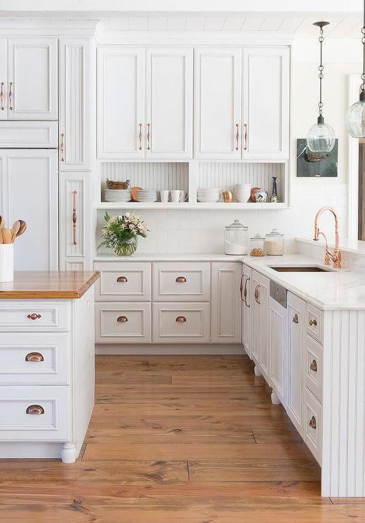 Raised Panel White Kitchen Cabinets