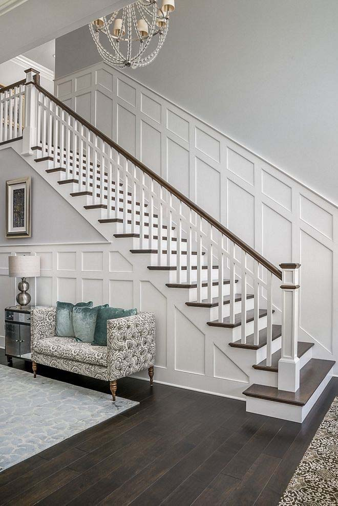 Spectacular Staircase With Wainscoting