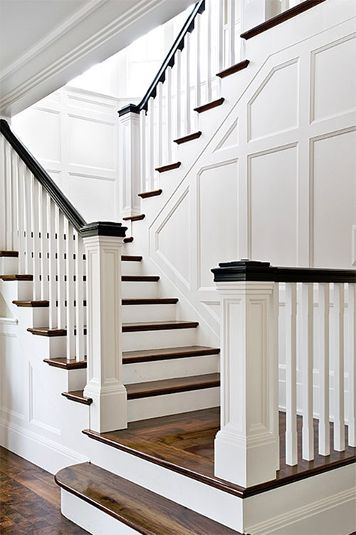 Staircase Wainscoting Idea