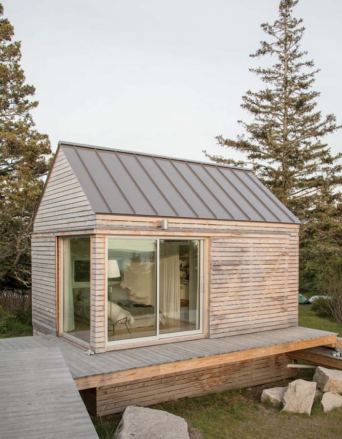 Summer Tiny Cabin Retreat #cabin #loghouse #tinyhouse  #decorhomeideas
