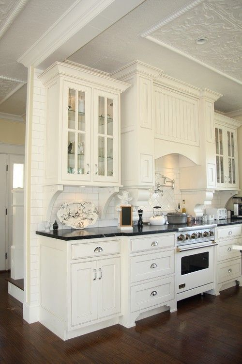 White Kitchen With Antique Cabinets