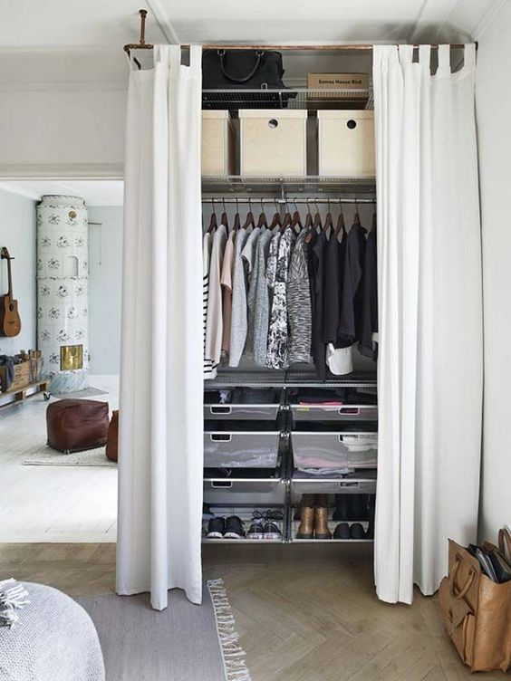 All Sides Curtain Closet Door Ideas #closet #curtain #homedecor #decorhomeideas
