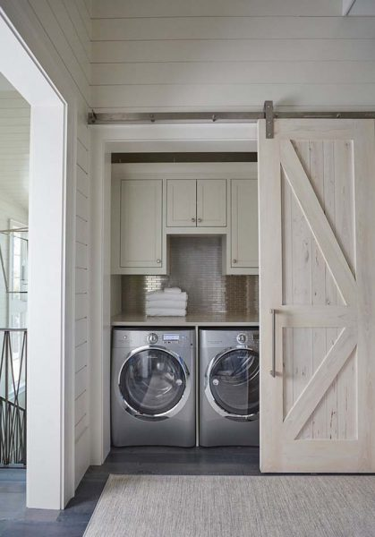Barn Door Closet For Laundry Room