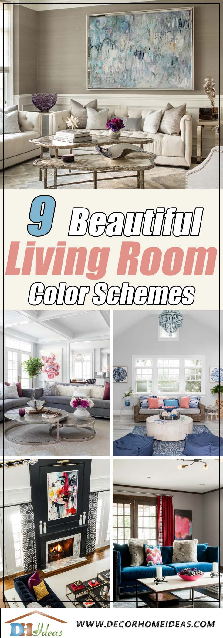 Beautiful Living Room Color Schemes #paintcolor #livingroom #colorscheme #decorhomeideas