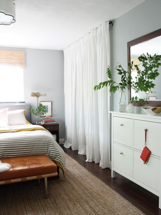 Bedroom Closet Curtain Door Idea #closet #curtain #homedecor #decorhomeideas