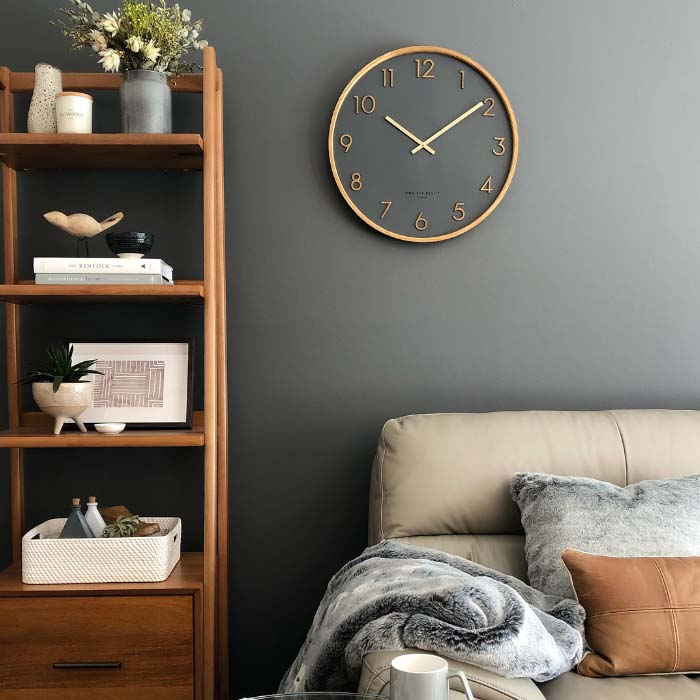 Bedroom With Wall Clock