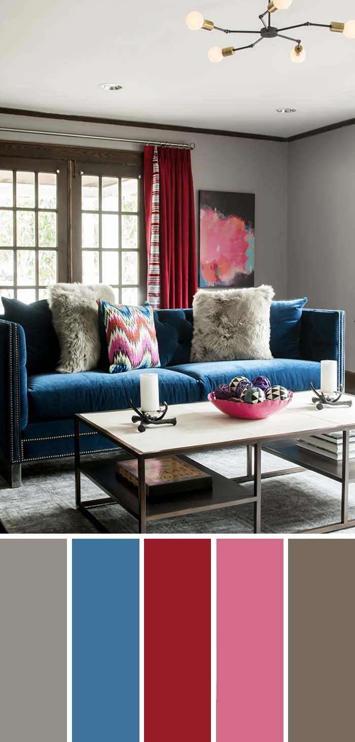 Colorful Living Room Color Scheme #paintcolor #livingroom #colorscheme #decorhomeideas