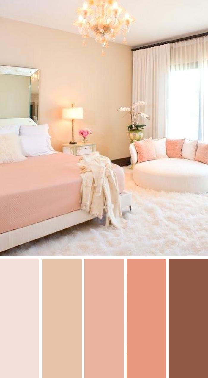 Coral Bedroom Color Scheme SW Color Names Included #bedroom #color #scheme #decorhomeideas #colorchart