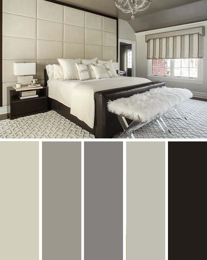 Cream Bedroom Color Scheme  SW Color Names Included #bedroom #color #scheme #decorhomeideas #colorchart