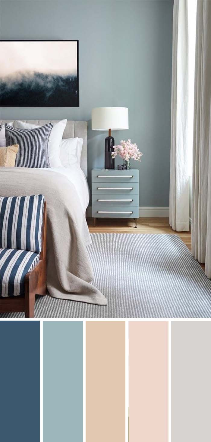 Pastel Color Bedroom Scheme  SW Color Names Included #bedroom #color #scheme #decorhomeideas #colorchart