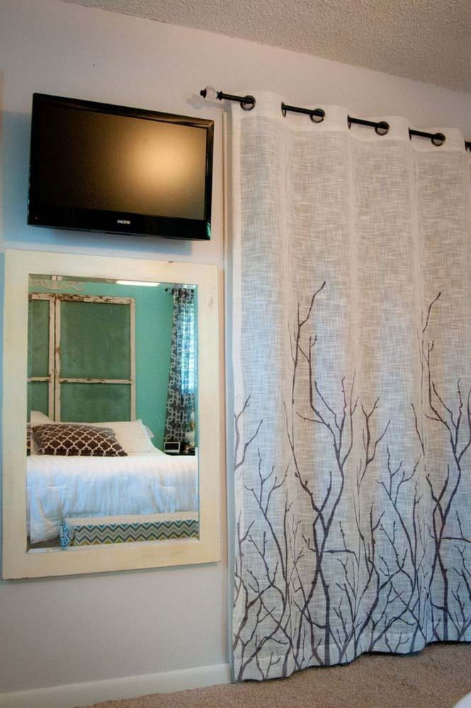 Creative Curtain Closet Door Idea #closet #curtain #homedecor #decorhomeideas
