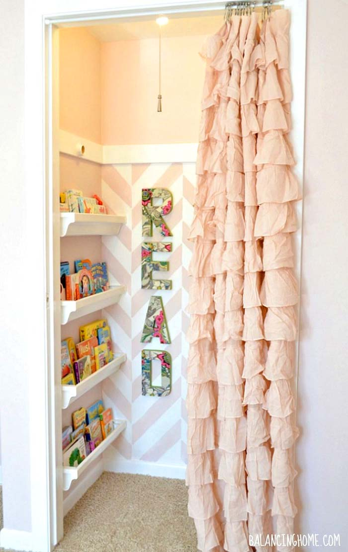 Curtain Closet Door Idea For Nursery Room #closet #curtain #homedecor #decorhomeideas