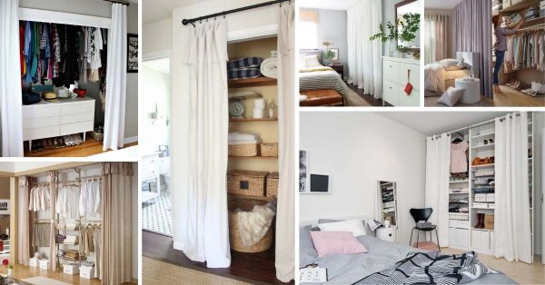 18 Tidy Curtain Closet Door Ideas To Conquer The Mess