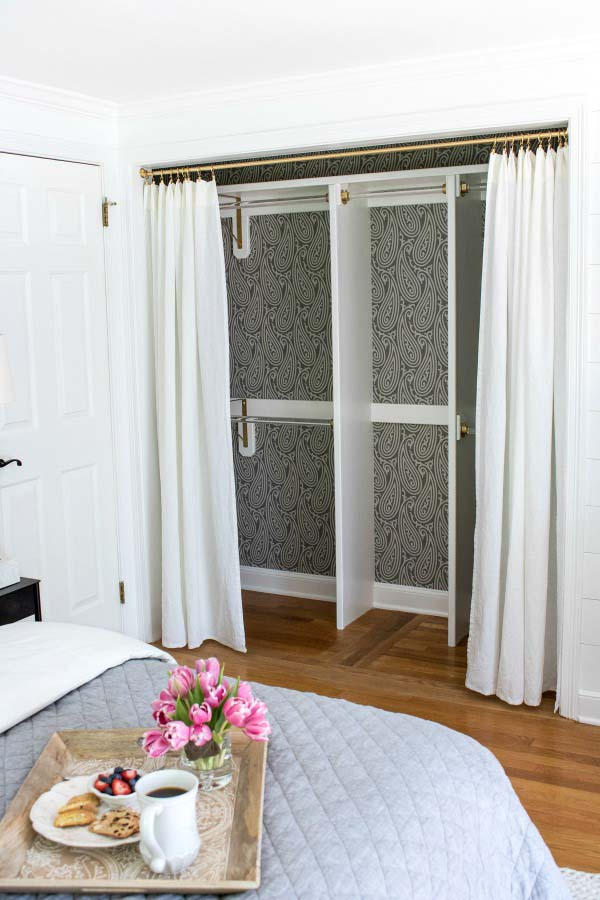 Curtain Closet Doors #closet #curtain #homedecor #decorhomeideas