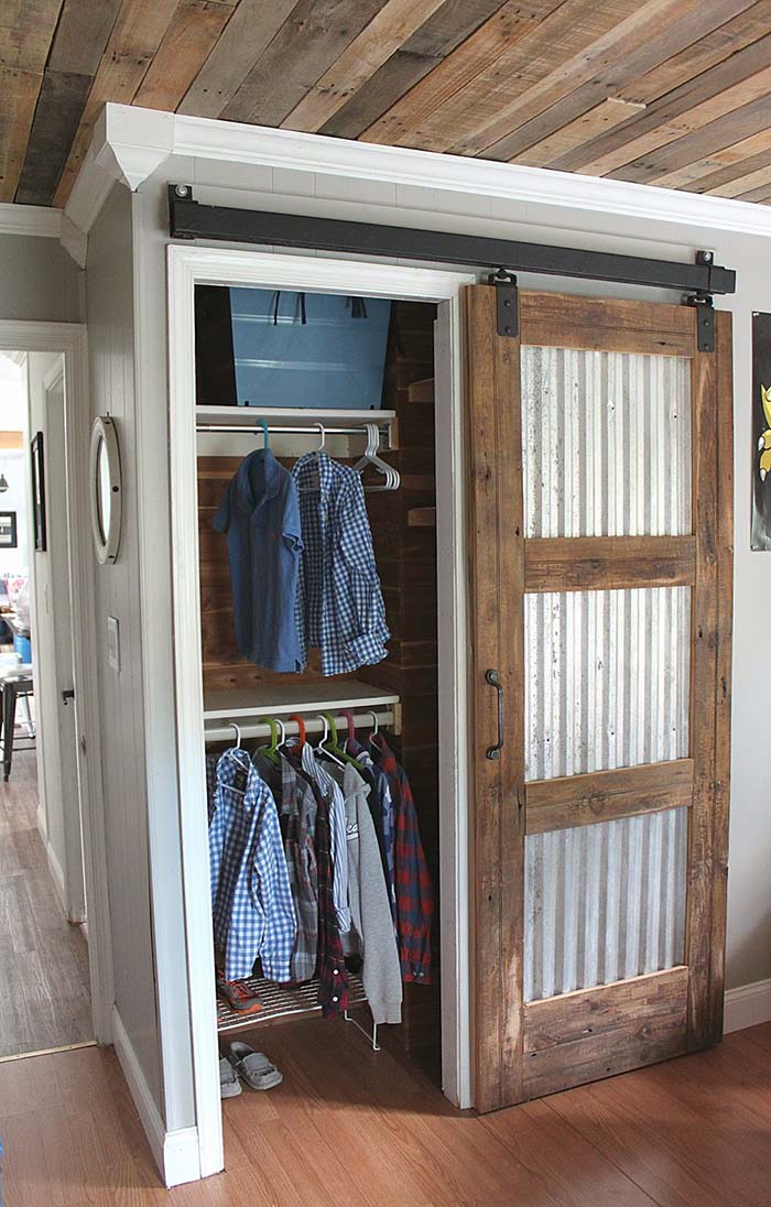 Easy Closet Barn Door DIY Project