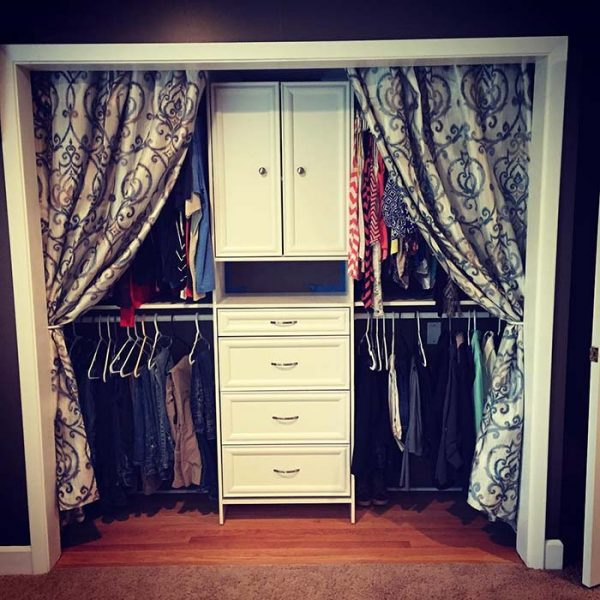 Floral Decor Curtain Closet Door Idea #closet #curtain #homedecor #decorhomeideas