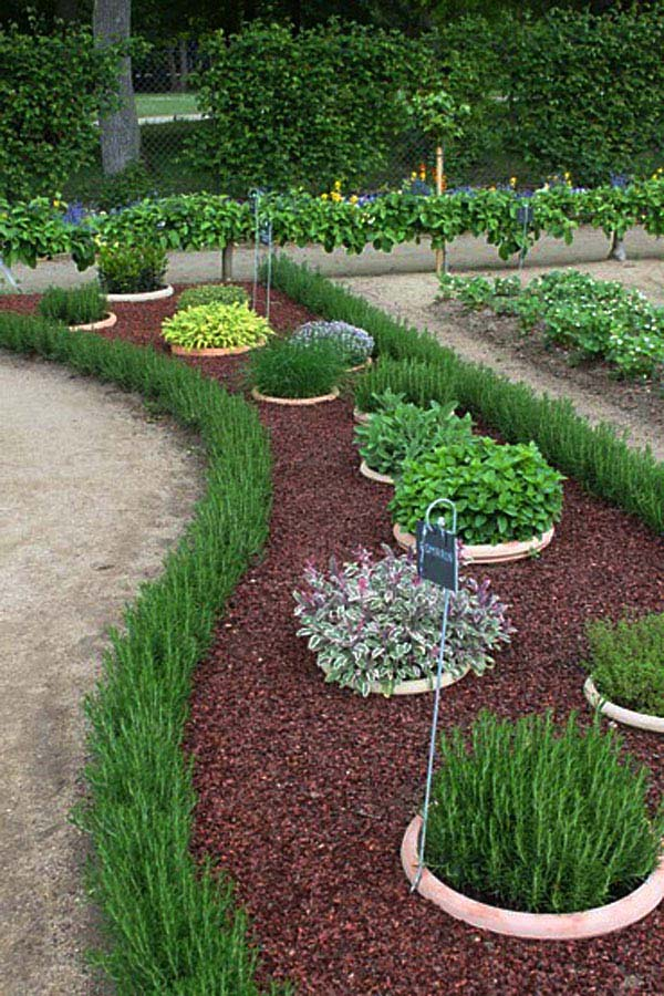 Garden Edging With Herbs #garden #gardenbed #edging #decorhomeideas
