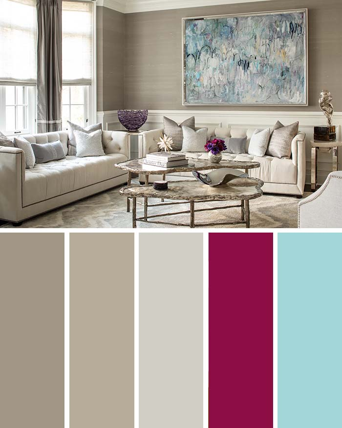 Neutral Beige Living Room Color Scheme #paintcolor #livingroom #colorscheme #decorhomeideas