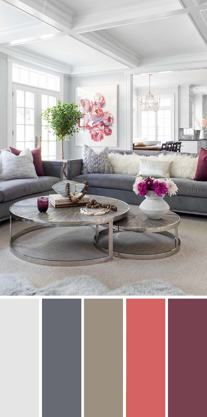 Neutral Gray Living Room Color Scheme #paintcolor #livingroom #colorscheme #decorhomeideas