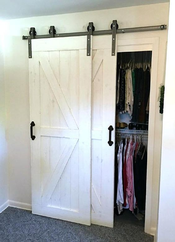 Overlapping Barn Doors For Closet