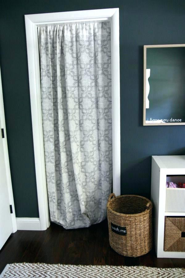 Small Closet Curtain Door Idea #closet #curtain #homedecor #decorhomeideas
