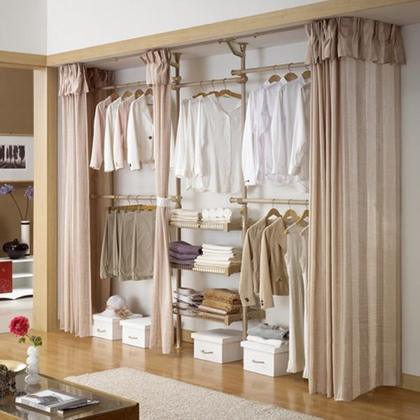 Tidy Curtain Closet Door Idea #closet #curtain #homedecor #decorhomeideas