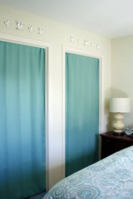 Turquoise Curtain Double Closet Door #closet #curtain #homedecor #decorhomeideas
