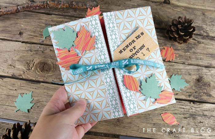 DIY Autumn Scrapbook Memory Box #memorybox #diy #decorhomeideas
