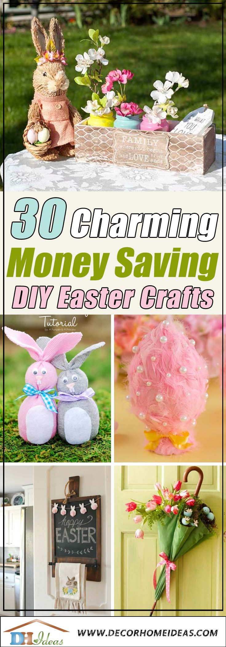 30 Charming and money saving DIY Easter Crafts #easter #crafts #diy #decorhomeideas