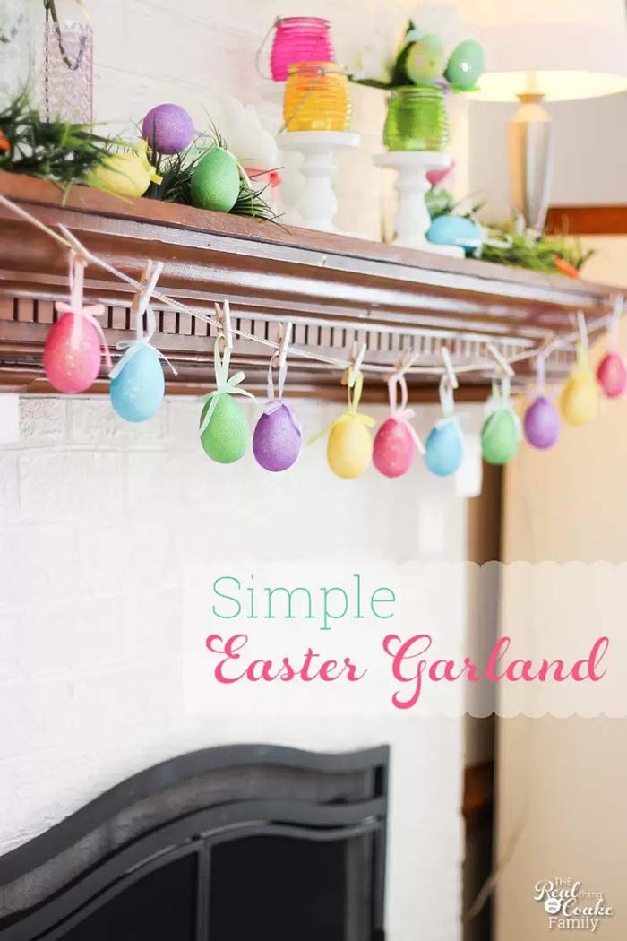DIY Easter Garland #easter #decoration #spring #diy #decorhomeideas