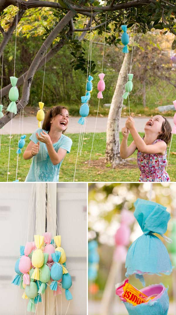 DIY Egg Popper Tree #easter #crafts #diy #decorhomeideas
