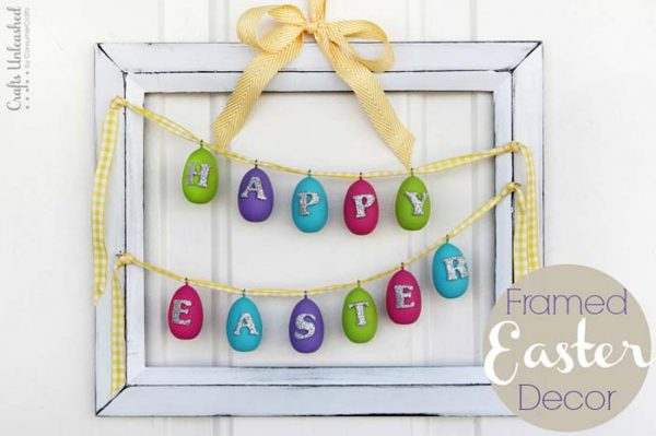 DIY Framed Easter Decoration #easter #decoration #spring #diy #decorhomeideas