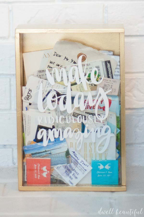 DIY Ticket Memory Box #memorybox #diy #decorhomeideas