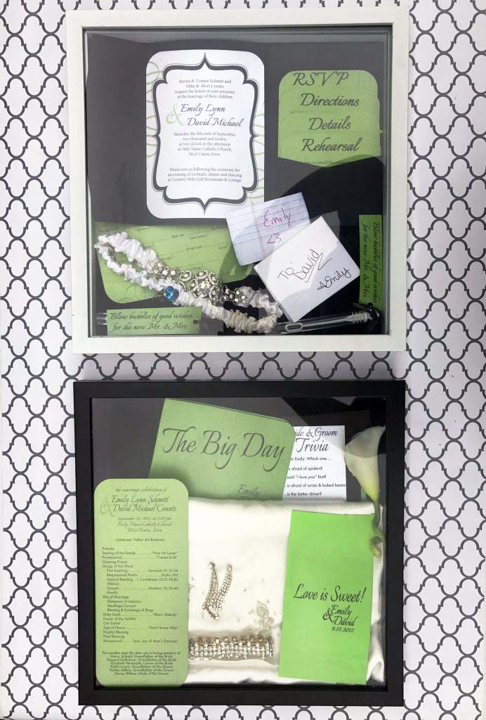 DIY Wedding Shadow Memory Box #memorybox #diy #decorhomeideas