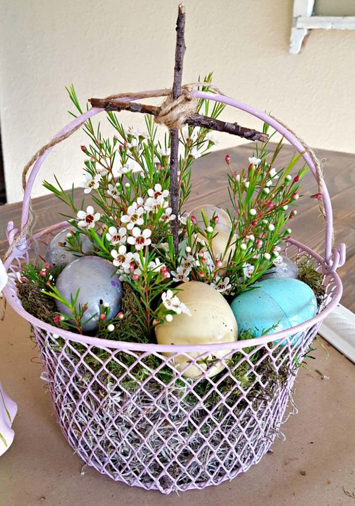 Easter Basket On a Budget #easter #decoration #spring #diy #decorhomeideas