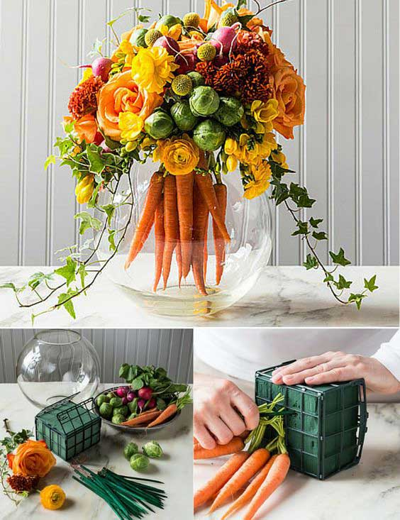 Easter Centerpiece With Carrots #easter #crafts #diy #decorhomeideas