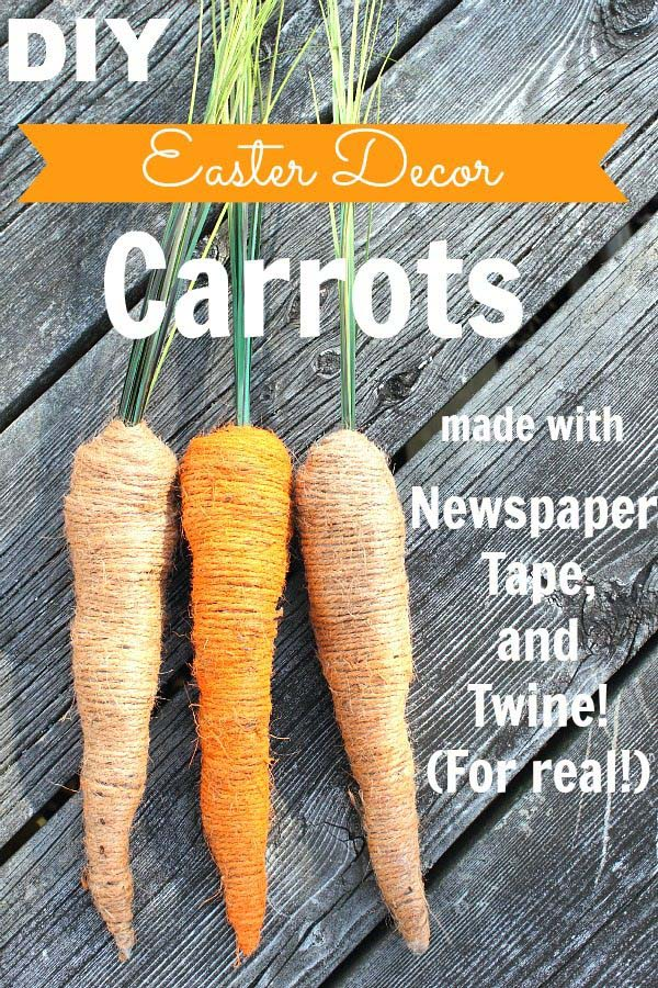 Easter Decor Carrots #easter #crafts #diy #decorhomeideas